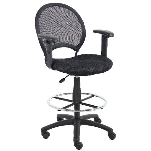 Boss Mesh Drafting Stool W/ Adjustable Arms ; UPC:751118162165