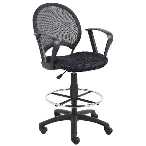Boss Mesh Drafting Stool W/ Loop Arms ; UPC:751118162172
