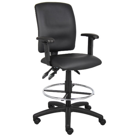 Boss Multi-Function LeatherPlus Drafting Stool W/ Adjustable Arms ; UPC:751118164602