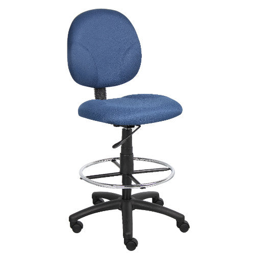 Boss Blue Fabric Drafting Stools W/Footring ; UPC:751118169034