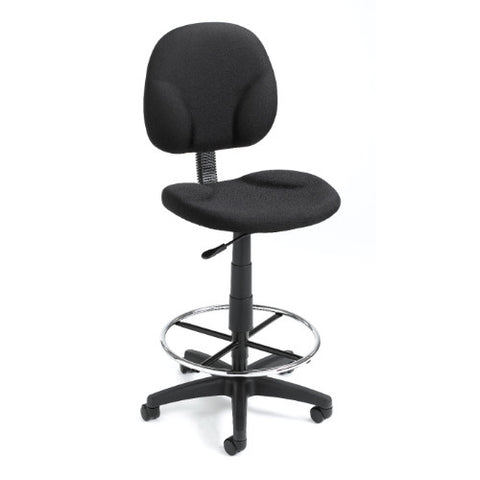 Boss Black Fabric Drafting Stools W/Footring ; UPC:751118169010
