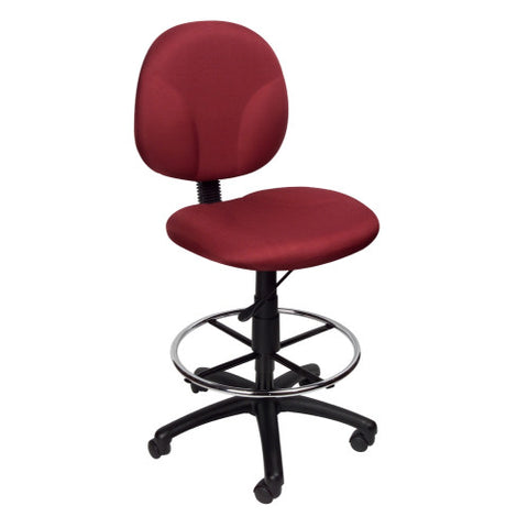Boss Burgundy Fabric Drafting Stools W/Footring ; UPC:751118169041