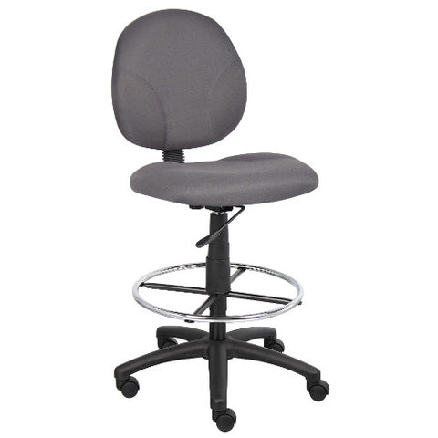 Boss Gray Fabric Drafting Stools W/Footring ; UPC:751118169027