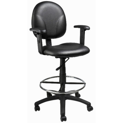 Boss Black Caressoft Drafting Stools W/Adj Arms & Footring ; UPC:751118169188