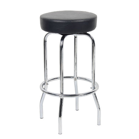 "29"" Chrome/Black Stool ; UPC:751118022919"