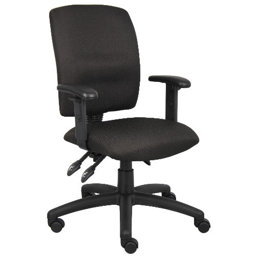 Boss Multi-Function Fabric Task Chair W/ Adjustable Arms ; UPC:751118303612