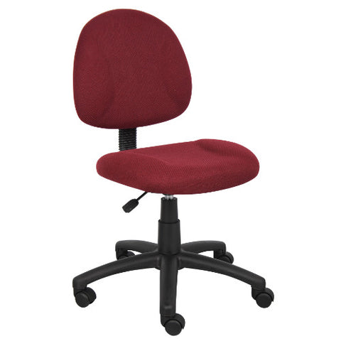 Boss Burgundy  Deluxe Posture Chair ; UPC:751118031546