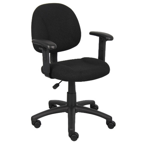 Boss Black  Deluxe Posture Chair W/ Adjustable Arms ; UPC:751118031614