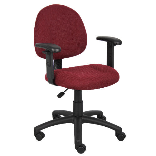 Boss Burgundy  Deluxe Posture Chair W/ Adjustable Arms ; UPC:751118031645