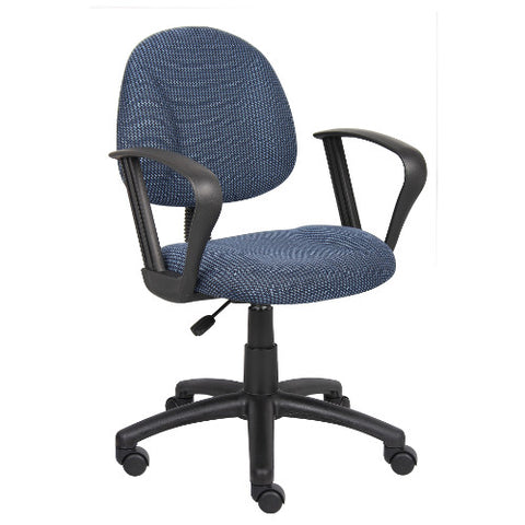 Boss Blue  Deluxe Posture Chair W/ Loop Arms ; UPC:751118031737