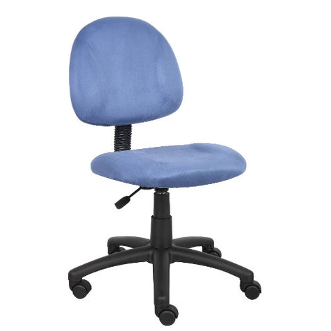 Boss Blue Microfiber Deluxe Posture Chair ; UPC:751118325034