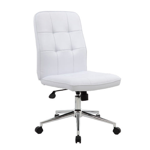 Boss Modern Office Chair - White ; UPC:751118330069