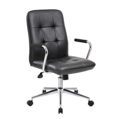 Boss Modern Office Chair w/Chrome Arms - Black ; UPC:751118331011