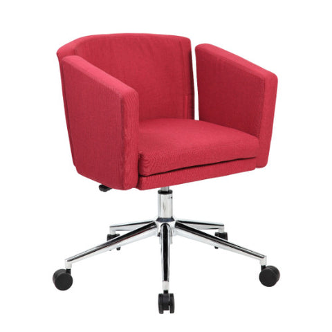 Boss Metro Club Desk Chair - Marsala Red ; UPC:751118416213