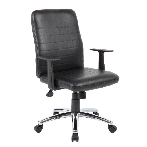 Boss Retro Task Chair with Black T-Arms ; UPC:751118431018
