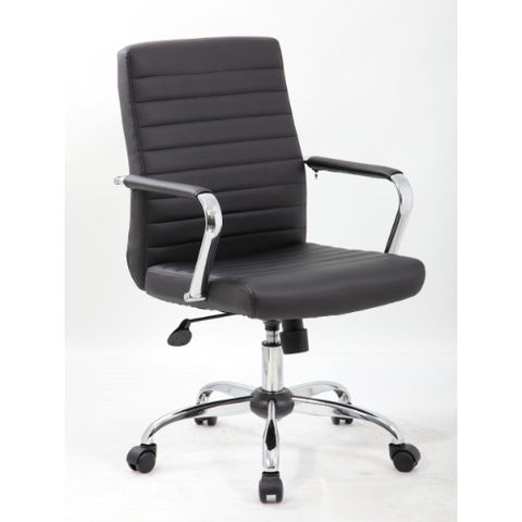 Boss Retro Task Chair with Chrome Fixed Arms ; UPC:751118043693