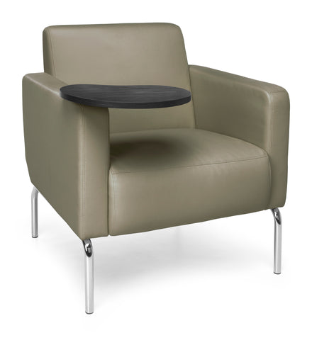 OFM Triumph Series Model 3002T Polyurethane Modular Lounge Chair with Arms and Tungston Tablet, Taupe ; UPC: 845123029916 ; Image 1