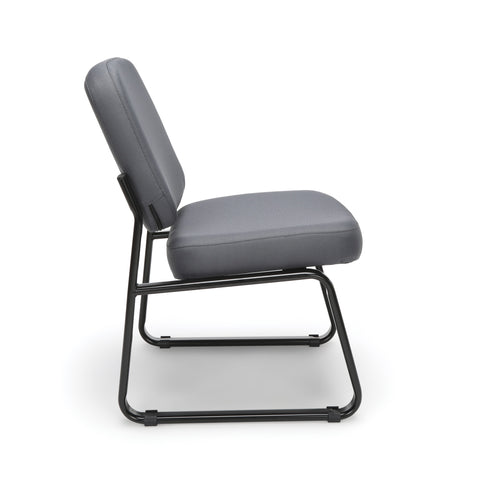 OFM Model 405 Fabric Armless Guest and Reception Chair, Gray ; UPC: 811588014248 ; Image 4