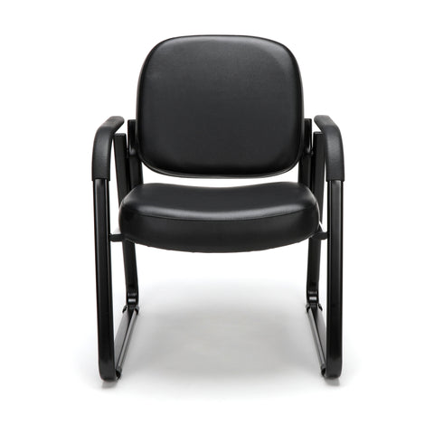 OFM Model 403-VAM Guest and Reception Chair with Arms, Anti-Microbial/Anti-Bacterial Vinyl, Black ; UPC: 811588014224 ; Image 2