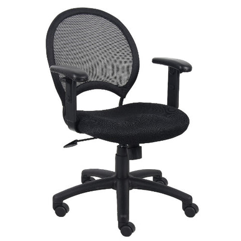 Boss Mesh Chair With Adjustable Arms ; UPC:751118621617