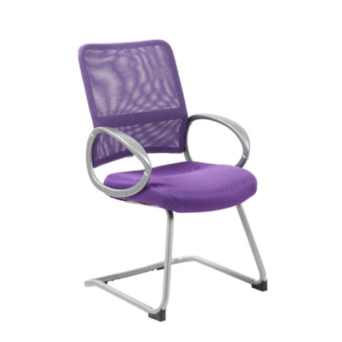 Boss Mesh Back W/ Pewter Finish Guest Chair in Purple ; UPC:751118641950