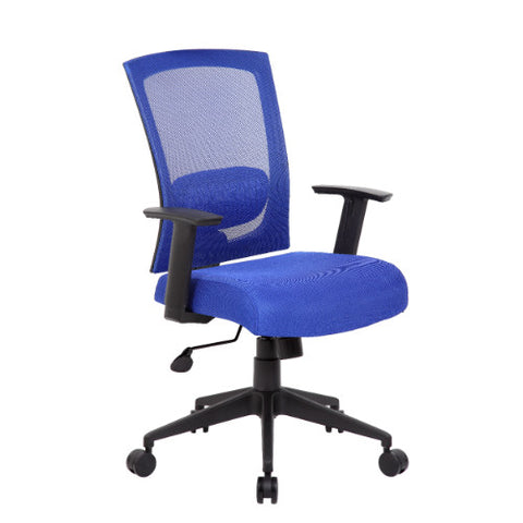 Boss Mesh Back Task Chair in Blue ; UPC:751118670639