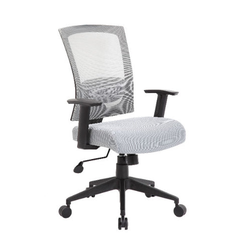 Boss Mesh Back Task Chair in Gray ; UPC:751118670622