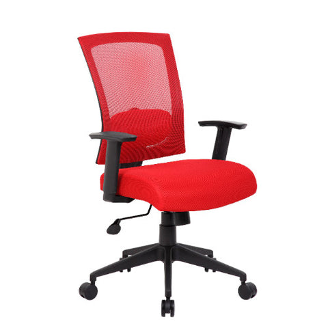 Boss Mesh Back Task Chair in Red ; UPC:751118670646