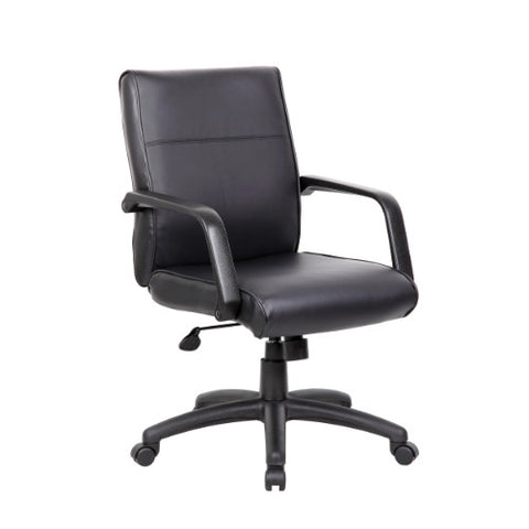 Boss Mid Back Executive Chair In LeatherPlus ; UPC:751118068603
