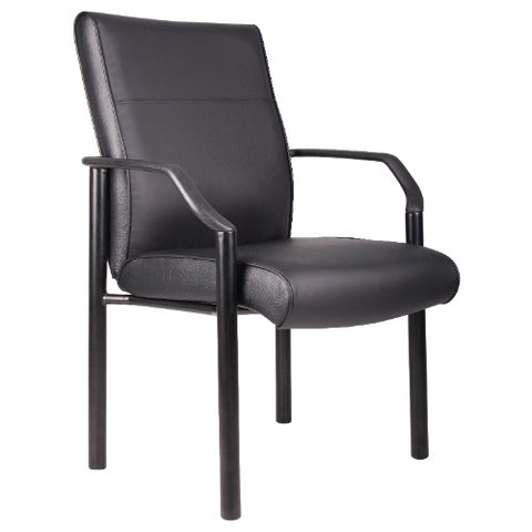 Boss Mid Back Guest Chair In LeatherPlus ; UPC:751118068900