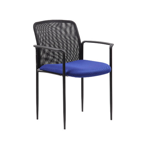 Boss Stackable Mesh Guest Chair - Blue ; UPC:751118690934