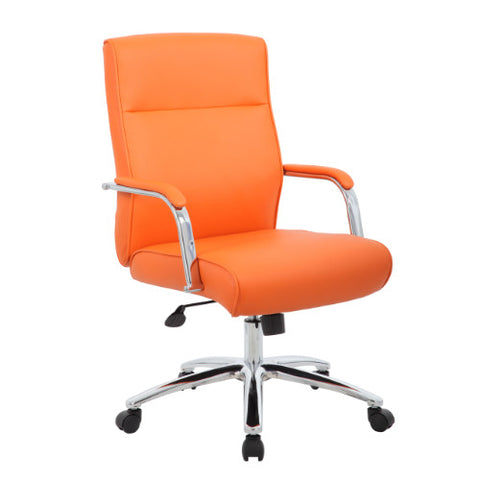 Boss Modern Executive Conference Chair - Orange ; UPC:751118069648