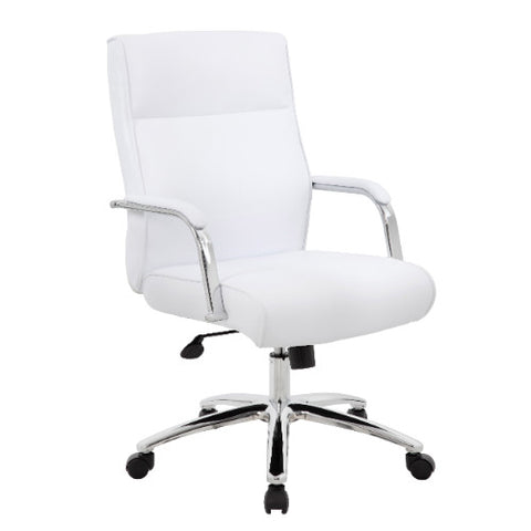 Boss Modern Executive Conference Chair - White ; UPC:751118069662
