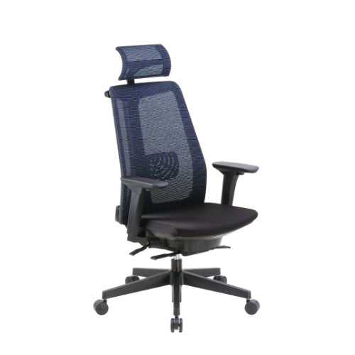 Boss Contemporary Mesh Executive Chair with Headrest ; UPC:751118901917
