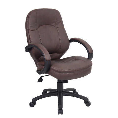 Boss LeatherPlus Executive Chair in Bomber Brown ; UPC:751118072655