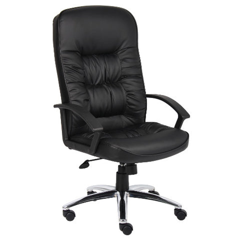 Boss High Back LeatherPlus Chair W/ Chrome Base ; UPC:751118730142