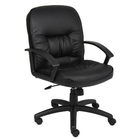 Boss Mid Back LeatherPlus Chair ; UPC:751118730616