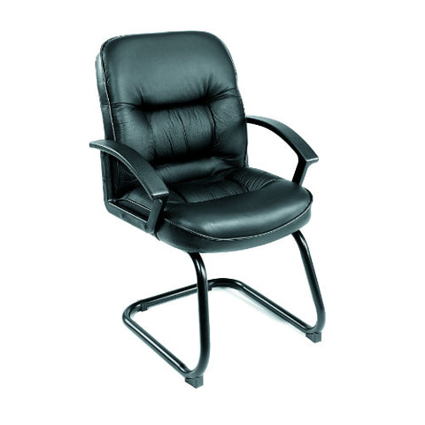 Boss Mid Back LeatherPlus Guest Chair ; UPC:751118730913