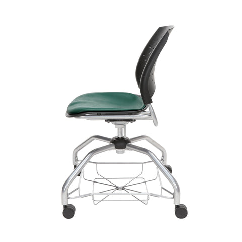 OFM Stars Foresee Series Chair with Removable Vinyl Seat Cushion - Student Chair, Teal (329-VAM) ; UPC: 845123094082 ; Image 5