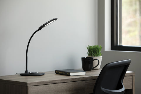 OFM ESS-9004-BLK Essentials LED Desk Lamp with Integrated Wireless Charging Station, Black ; UPC: 192767000628 ; Image 11