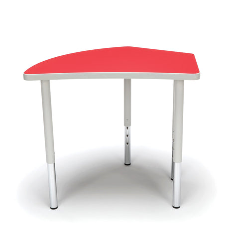 OFM Adapt Series Crescent Standard Table - 23-31? Height Adjustable Desk, Red (CREST-LL) ; UPC: 845123096529 ; Image 2