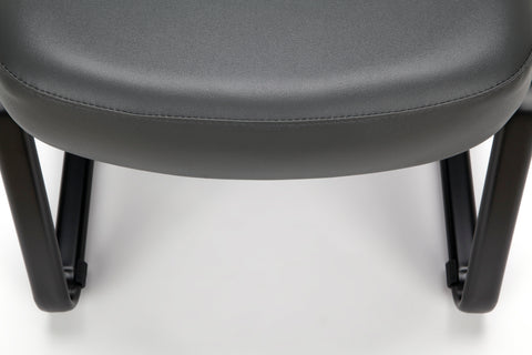 OFM Model 405-VAM Armless Guest and Reception Chair, Anti-Microbial/Anti-Bacterial Vinyl, Charcoal ; UPC: 811588014347 ; Image 8
