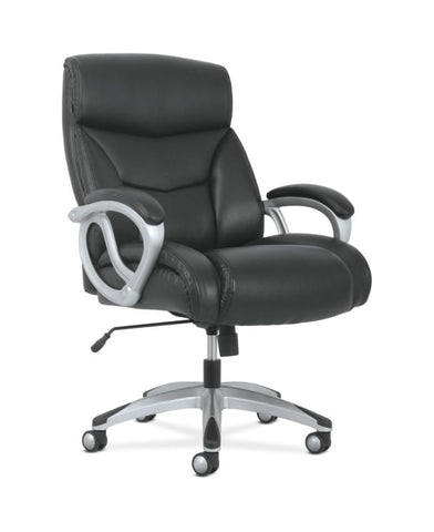 Sadie Big & Tall High-Back Executive Chair | Black Leather ; UPC: 888206724773 ; Image 1