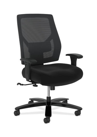 HON Crio High-Back Big And Tall Chair | Mesh Back | Adjustable Arms | Adjustable Lumbar | Black Fabric ; UPC: 020459561297 ; Image 1