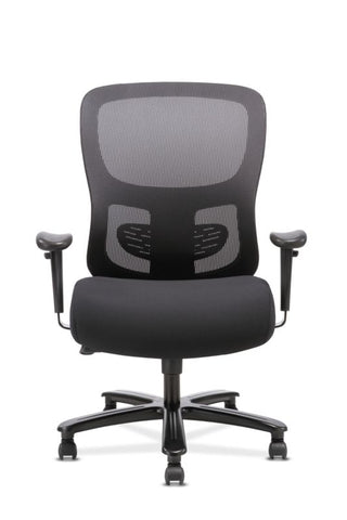 HON Big and Tall Chair | Height-Adjustable Arms | Adjustable Lumbar | Black Fabric and Mesh ; UPC: 888206941316 ; Image 3