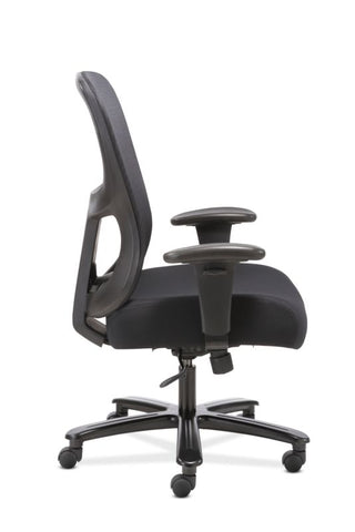 HON Big and Tall Chair | Height-Adjustable Arms | Adjustable Lumbar | Black Fabric and Mesh ; UPC: 888206941316 ; Image 4