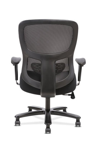 HON Big and Tall Chair | Height-Adjustable Arms | Adjustable Lumbar | Black Fabric and Mesh ; UPC: 888206941316 ; Image 6