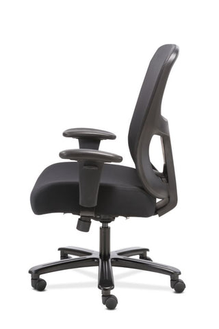 HON Big and Tall Chair | Height-Adjustable Arms | Adjustable Lumbar | Black Fabric and Mesh ; UPC: 888206941316 ; Image 5
