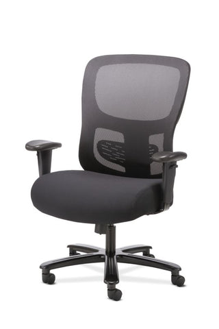 HON Big and Tall Chair | Height-Adjustable Arms | Adjustable Lumbar | Black Fabric and Mesh ; UPC: 888206941316 ; Image 2