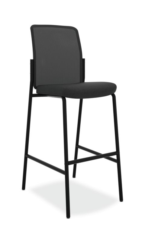 HON Instigate Cafe-Height Stool | Armless | Black ; UPC: 782986472315 ; Image 1
